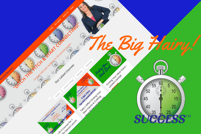 Image of the 30 Second Success Online Programs Sales Page Announcing the Launch of 3 Courses