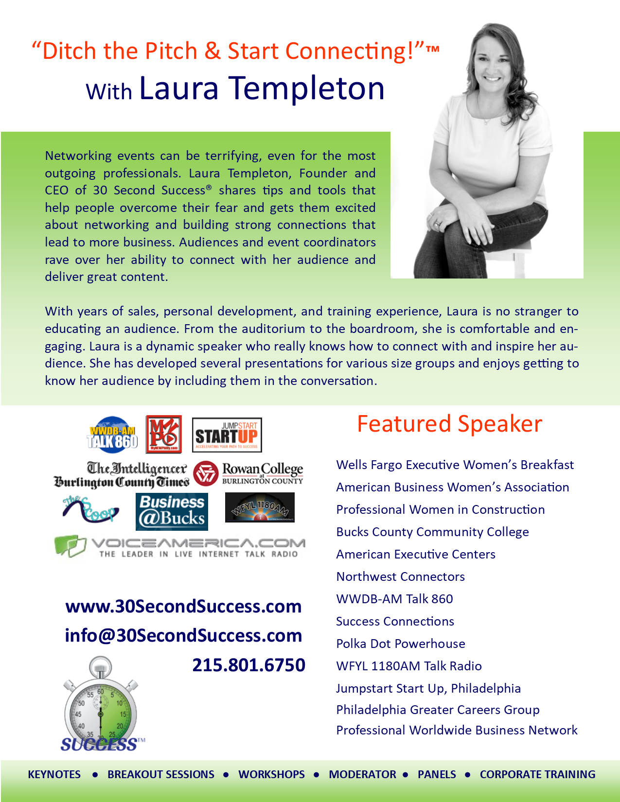 Laura Templeton Speaker One Sheet image